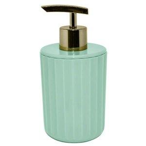 Saboneteira Liquida Porta Sabonete Groove Acessório Banheiro Verde Menta Fechado