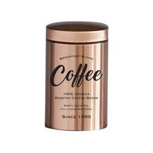 Lata metal Expresso Round Coffee Beans cobre 10,8x19cm Urban