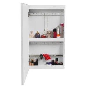 Porta Joia de Parede com espelho, Dobradiça Slow Motion, Organizador de acessórios - Dom Móveis