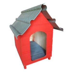 Casinha Para Cachorro - Telhado Ecológico - Grande - Vermelha