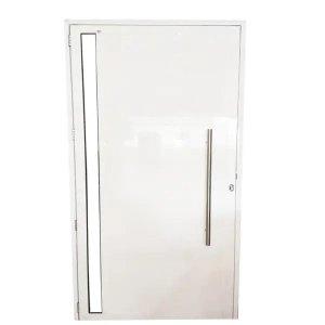 Porta De Alumínio Lambril 2,10 X 0,90 Linha 25 Premium com Visor e Puxador - Direita