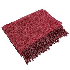 Manta Para Sofá Em Algodão Vermelho Mesclado 2,40 X 1,80