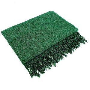 Manta Para Sofá Algodão Verde Mesclado Gigante 2,40 X 1,80