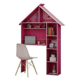 Escrivaninha Infantil Casinha Pink Ploc Gelius