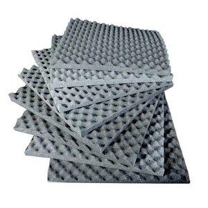 Espuma Acústica Casca de Ovo Kit 12 Placas 50x50x3 Cm Isolamento