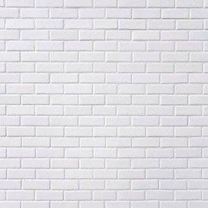 Papel de Parede Adesivo Tijolo a Vista Branco DPDA-129-BR - ROLO - 10M X 59cm ( 5,9M² )