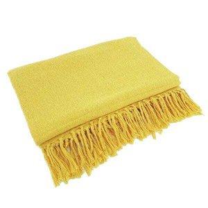 Manta Para Sofá Em Algodão Amarelo Ouro Gigante 2,40 X 1,80