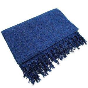 Manta Para Sofá Em Algodão Azul Mesclado Gigante 2,40 X 1,80