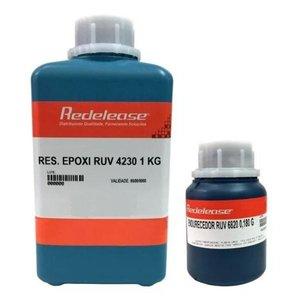 Resina 4230 Epoxi Transparente Para Altas Espessuras Com Proteção UV [1,180 Kg]