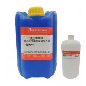 Resina 4230 Epoxi Transparente Para Altas Espessuras Com Proteção UV [5,900 Kg]