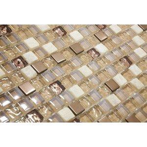 Pastilha de Vidro 8mm com Pedras Naturais e Metais - 13 Modelos - TSCR 259