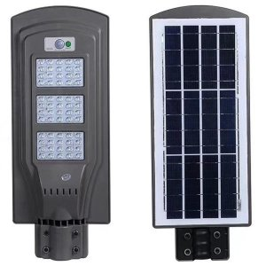 Refletor Luminária Solar Poste Led 60w Sensor Movimento
