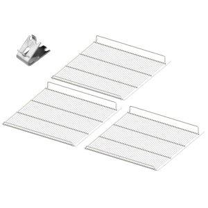 Conjunto 3 Grades Prateleira Refrigerador Expositor Metalfrio VN50C com Suporte para Grade