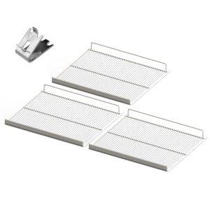 Conjunto 3 Grades Prateleira Refrigerador Expositor Metalfrio Vb40 Vb43 Vn44 com Suporte para Grade