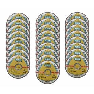 Disco de Corte Inox 4.1/2 Pol - 115 x 1,0 x 22,2 mm A 60 TZ Special Klingspor - 25 unidades