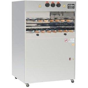 Churrasqueira a gás, para 9 espetos em 2  galerias rotativas - 0,75x0,75x1,50m. CLL-11 DG - Tomasi