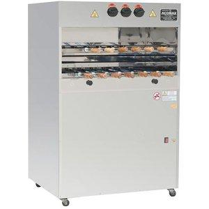 Churrasqueira a gás, para 23 espetos em 3  galerias rotativas - 1,05x0,75x1,60m CLL-23 TG - Tomasi