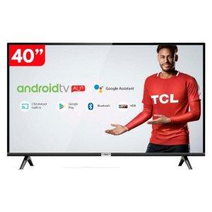 Smart TV 40 Polegadas LED HD TCL 40S6500 com Android e comando de voz Bivolt