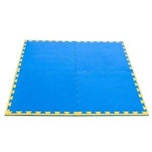 Kit Home Tatame Profissional com 4 plcas+ 20mm azul/amarelo