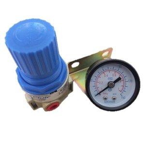Regulador De Pressão 1/4 150 Psi Com Manômetro E Suporte