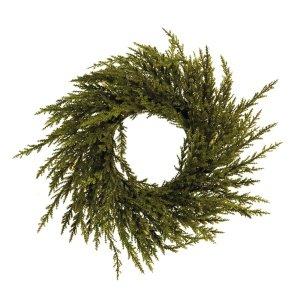 Guirlanda Natal Enfeite Porta Verde com Glitter 20cm 1 Peça
