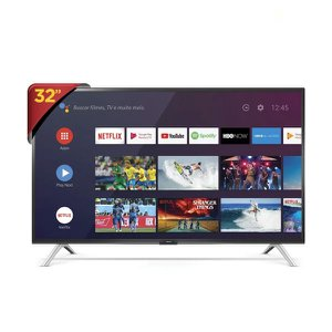 """Smart Tv Led 32"""" Semp 32S5300 - resolução HD, DTV, Android TV, Reconhecimento de Voz, HDMI e USB"""