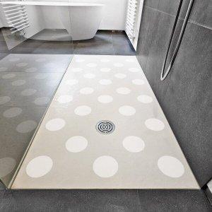 Adesivo para Piso Banheiro Antiderrapante Bolas Brancas 14un