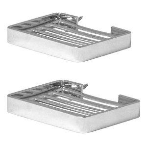 Kit 2 Saboneteiras Para Banheiro De Parede Cromada