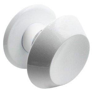 Puxador Maçaneta Duplo Branco Para Portas De Vidro Temperado