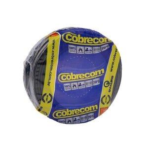 Cabo Fio Elétrico Cobrecom Flexível Preto 2,5mm x 50m
