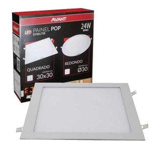 Painel Plafon Led Embutir 24w Quadrado Branco Neutro 4000k