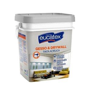 Eucatex Gesso e Drywall 18 litros Branco