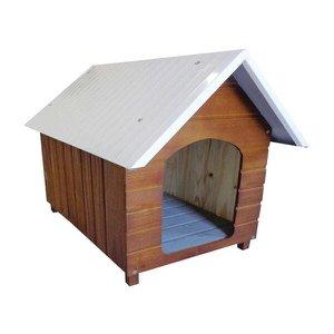 Casinha Para Cachorro - Telhado Galvanizado - Média - Cerejeira
