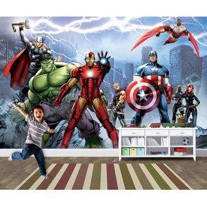 Papel de Parede para Quarto Infantil Super Heróis 0039