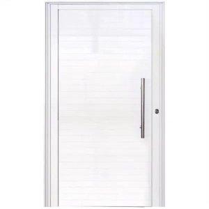Porta De Alumínio Lambril 2,10 X 0,80 Linha 25 Premium Com Puxador - Direita