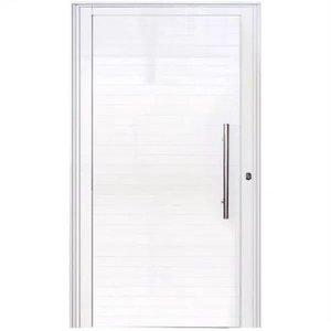 Porta De Alumínio Lambril 2,10 X 0,80 Linha 25 Premium Com Puxador - Esquerda
