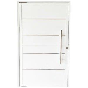 Porta Pivotante De Alumínio Branco 210 x 100 Linha 25 Com Friso - Direita