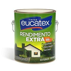 Tinta Acrílica Eucatex Rendimento Extra Fosco Branco Neve