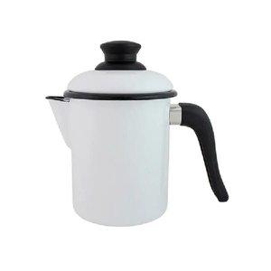 Leiteira de qualidade em Agata - 900 ml - Branca - Ewel