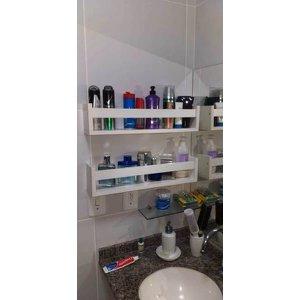 Prateleira Nicho Para Banheiro Cosméticos - 2 Peças