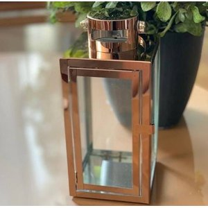 Lanterna Marroquina Metal Inox Cor Cobre - Modelo 2