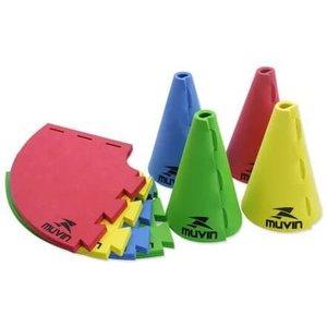 Cone de Marcação 16cm MTF-300 - 16cm x 10cm - Azul/Amarelo