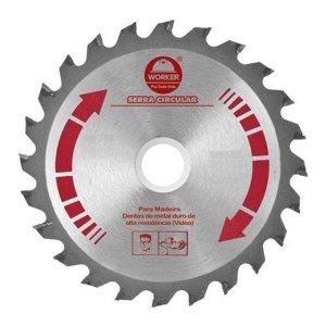 Disco de serra circular para madeira 185mm 7.1/4 Pol. 24 dentes Furo 20mm worker