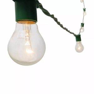 Varal Luz Cordão Iluminação Gambiarra Decoração 10MT VD 50cm