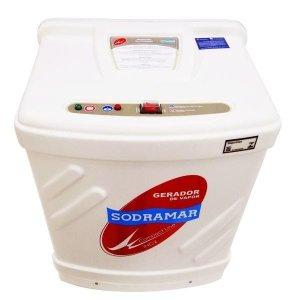 Gerador a vapor Sodramar 12 kw Inox p/ até 18 m³ 220/380 V (Bifásico)