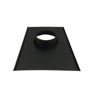 Rufo colarinho de telhado preto para chaminé de 180 mm de diâmetro