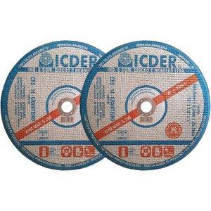 Disco de Corte Refratário 12 Pol Icder - Kit com 2 Unidades