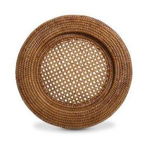 KIT Sousplat redondo em rattan natural BAHAY - 32cm - 6 peças