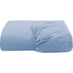Lençol Cama Viúva Avulso C/ Elástico 100% Algodão 200 Fios - Azul