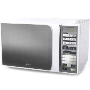 Micro-ondas Midea Dia a Dia, Branco, MTFE41, 30 Litros, Porta Espelhada, 110V